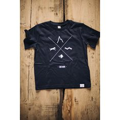 Kids T-shirt with Hipster Cross