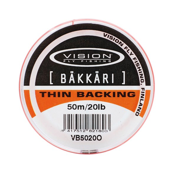 Backing Bäkkäri Orange - 20lb/50m