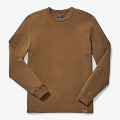 M's Waffle Knit Thermal Crewneck