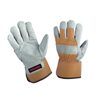 COW SPLIT LEATHER FITTED GLOVE