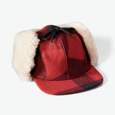 Double Mackinaw Cap red
